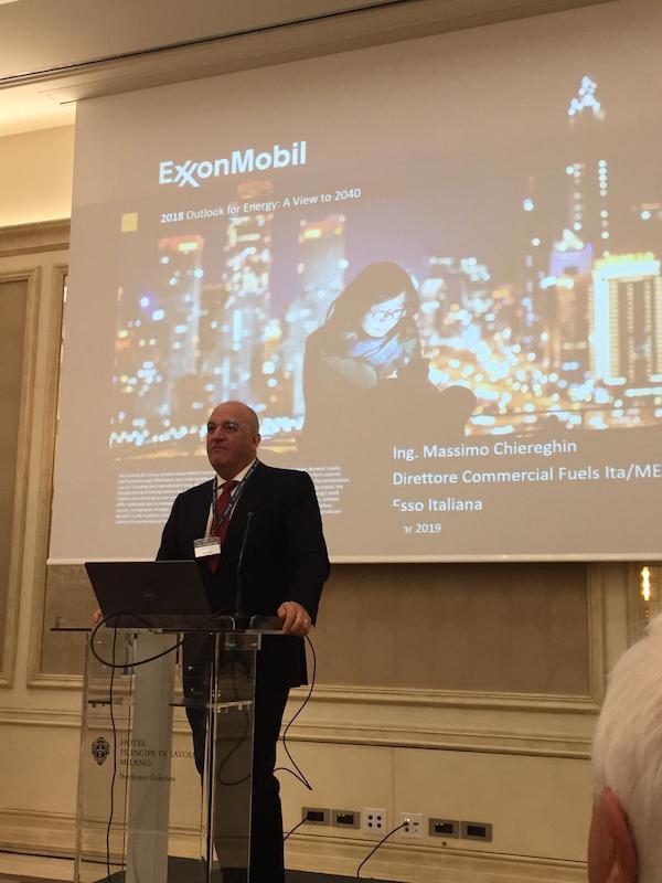 Massimo Chiereghin Direttore Commerciale Fuels Ita/MED Esso Italiana