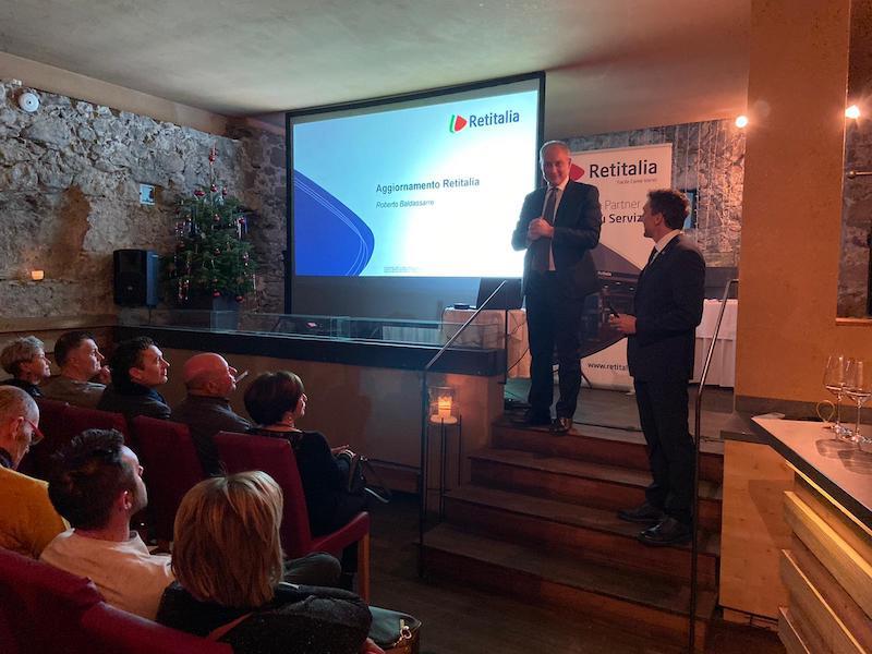 Amministratore Delegato Dario Falchi e Direttore Rete Roberto Baldassarre_Convention Dicembre 2019_Bolzano